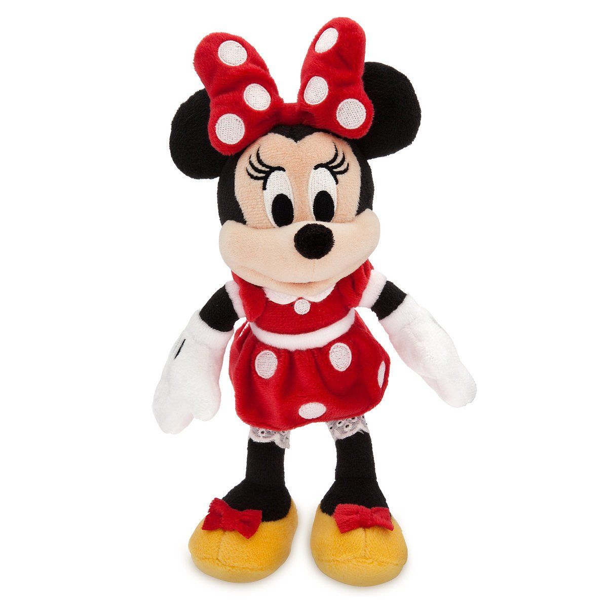 Disney Store Minnie Mouse Plush Red Mini Bean Bag 9 1/2inc New with Tags
