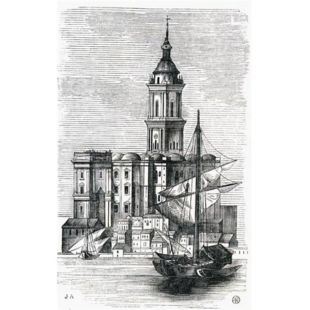 Posterazzi DPI1858388 View of Malaga Cathedral From The Port 19th Century From The Viaje Ilustrado. M-laga Costa Del Sol Spain Poster Print, 12 x 19 - image 1 of 1