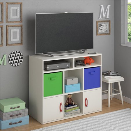Lucerne Media Storage by Altra, White Stipple