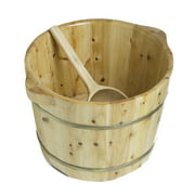 ALFI brand AB6604 Round Wooden Cedar Foot Soaking Tub