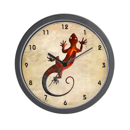 "CafePress - Fire Red Gecko - Unique Decorative 10"" Wall Clock"
