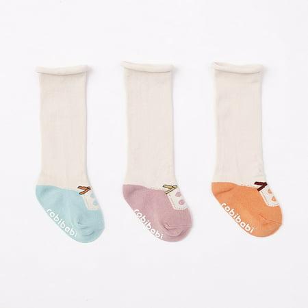 3 Pairs Toddler Socks, Non Skid Knee High Cotton Socks for Baby Boys & - Toddler Boy Knee High Socks