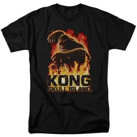 Kong Skull Island Mens  Out Of The Fire T Shirt Black