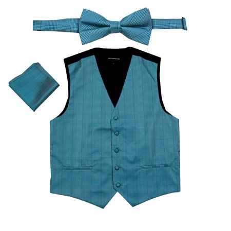 Prom Suit (Men's Plaid Dress Vest Bow Tie for Tuxedo and Suit Proms and)