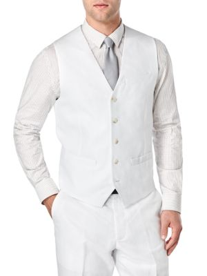 Big and Tall Linen and Cotton Suit Vest
