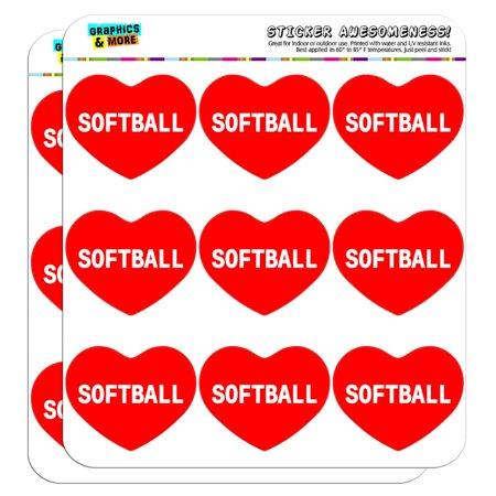 I Love Heart - Sports Hobbies - Softball - 2