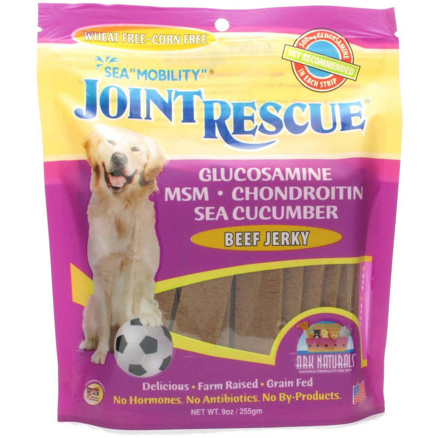 Ark Naturals Sea Mobility Joint Rescue Beef Jerky for Dogs, 9 oz