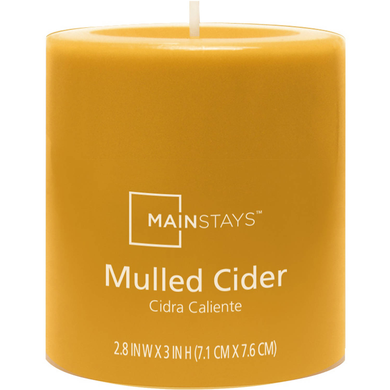 Mainstays Scented Pillar Candle, Mulled Cider