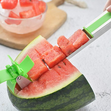 Watermelon Windmill Cutter Slicer, Stainless Steel Melon Cuber Knife,New Kitchen Gadgets Stainless Steel One Step Cutter Watermelon Cubes Slicer and Corer - image 5 of 7