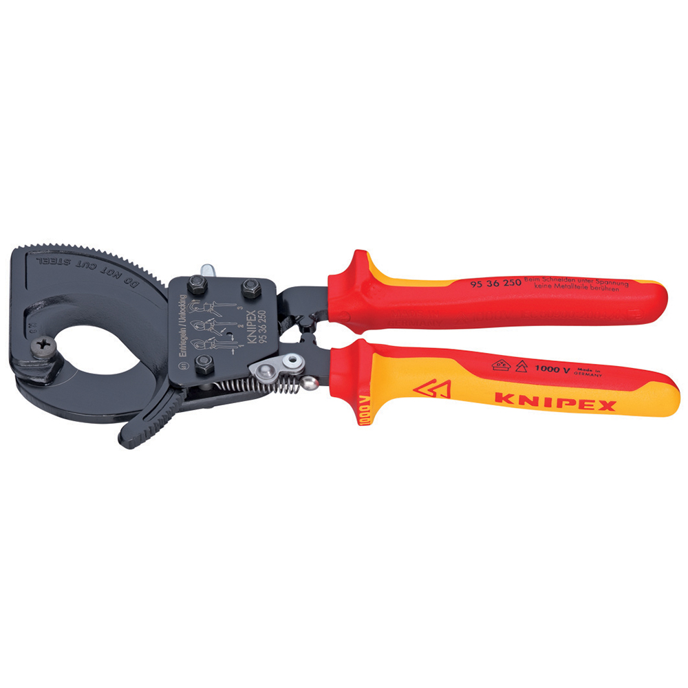 "Knipex 9536250 10"" Ratchet Action Insulated Cable Cutters..."