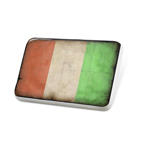 Porcelein Pin Ivory Coast Flag with a vintage look Lapel Badge – NEONBLOND