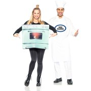 Seeing Red Chef and Bun in the Oven Couples Costumes for Adults, Standard Size, Includes an Apron and an Oven Tunic