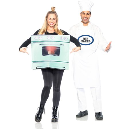 Homemade Couples Costumes Ideas (Seeing Red Chef and Bun in the Oven Couples Costumes for Adults, Standard Size, Includes an Apron and an Oven)
