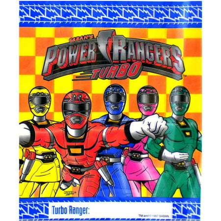 Power Rangers Invitations (Power Rangers Vintage 1997 'Turbo' Favor Bags)