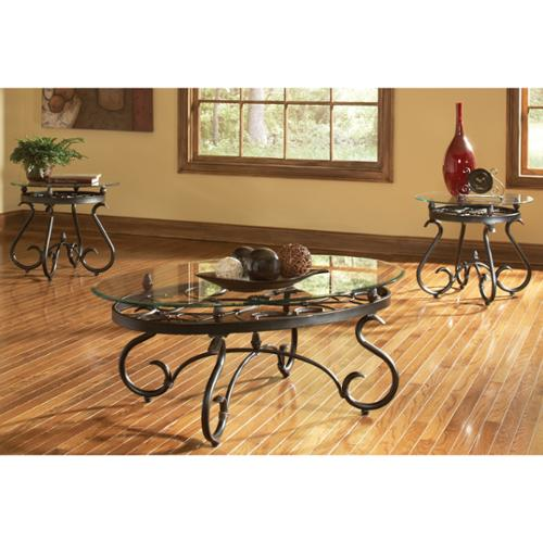 Greyson Living Lydia Metal and Glass 3-piece Table Set by