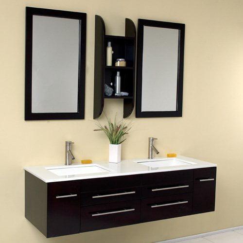 Fresca Bellezza Espresso 59-in. Modern Double Bathroom Vanity FVN6119UNS