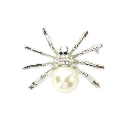 Gorgeous Rhinestone Crystal Spider Pin Brooch For Halloween for $<!---->
