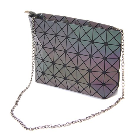 Luminous Women Shoulder Bag Crossbody Purse Pu Night Party Unique Handbag