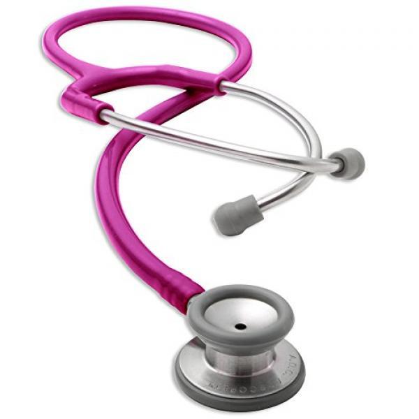 ADC ADSCOPE 604 Pediatric Clinician Stethoscope, 30.5 inch, Metallic Raspberry