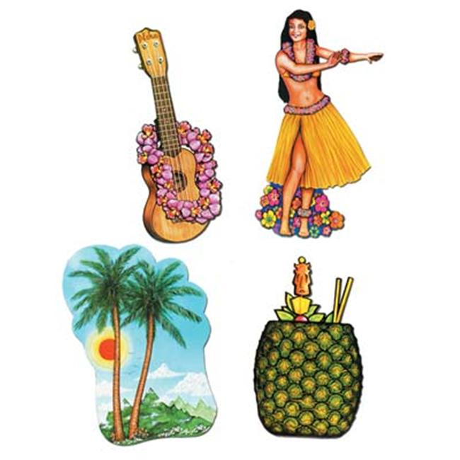 Beistle - 55945 - Luau Cutouts- Pack of 12