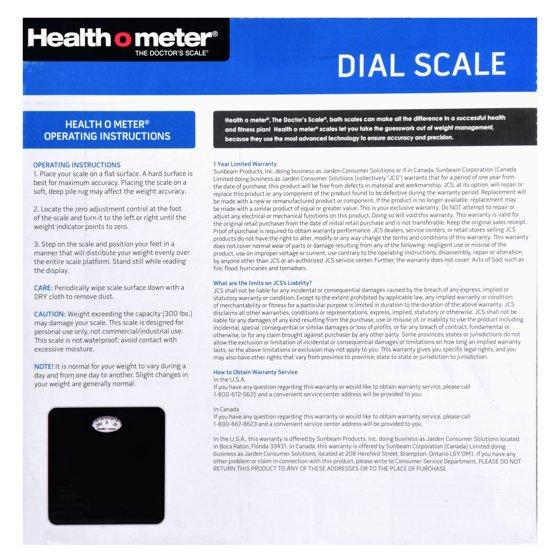 Health O Meter Dial Scale Black Walmart