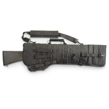 """New 34"""" Tactical Shotgun Rifle Scabbard Shoulder Sling Molle Padded Case Black"""