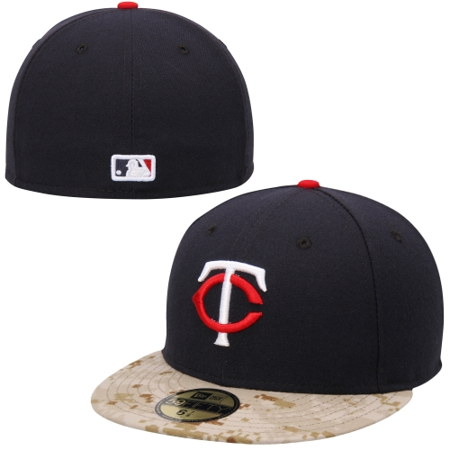 Minnesota Twins New Era 2015 Memorial Day On-Field 59FIFTY Fitted Hat - Navy