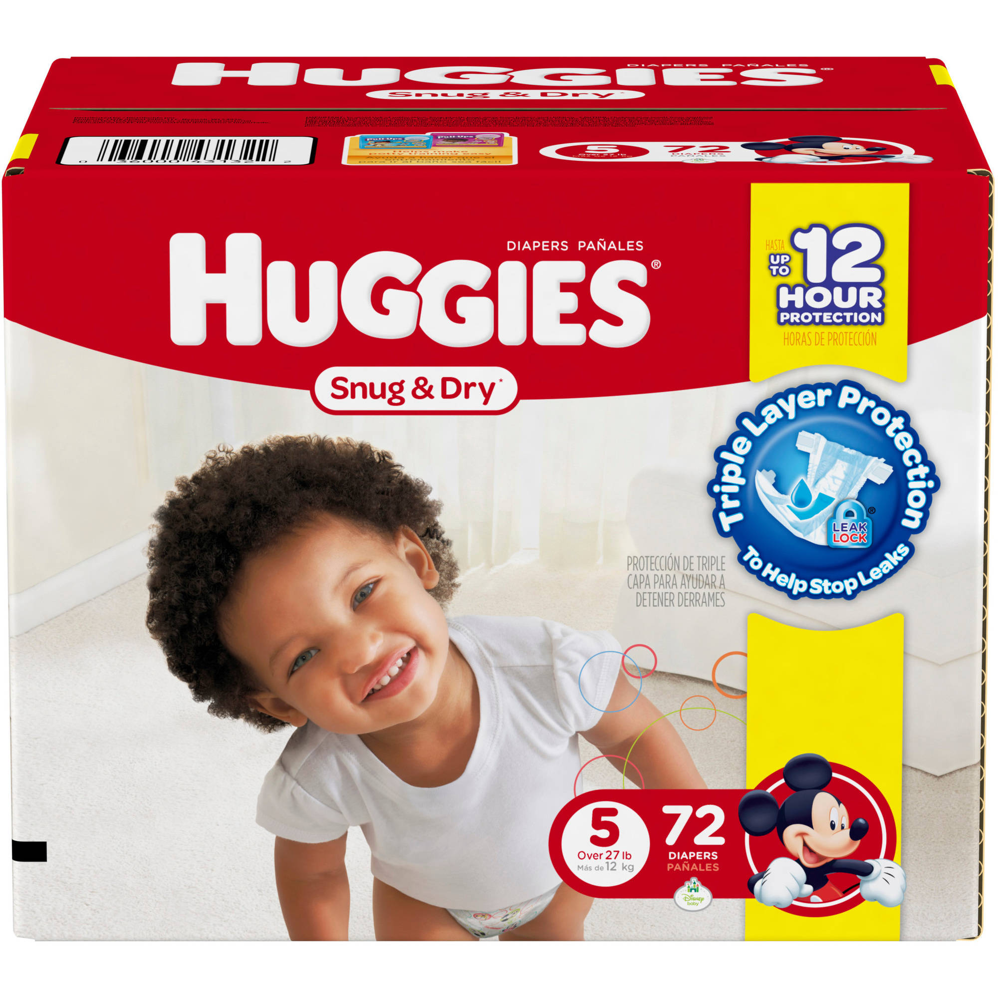 HUGGIES Snug & Dry Diapers, Size 5 (Choose Diaper Count)