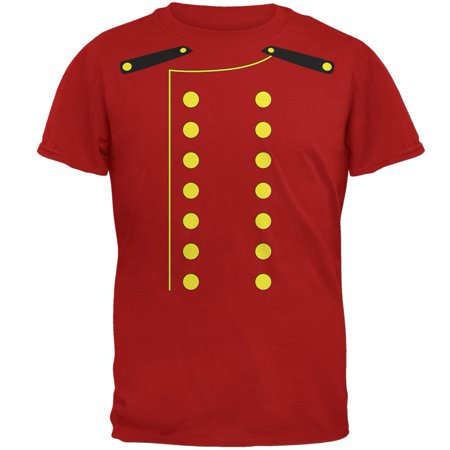 Halloween Hotel Bellhop Costume Red Adult T-Shirt (The W Hotel Boston Halloween)