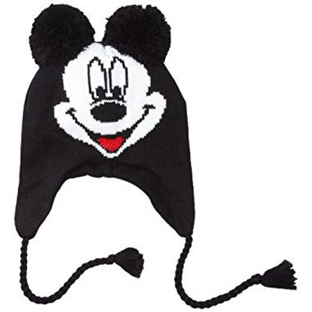 0e096b4a75b Concept One - Disney Mickey Mouse Knit Peruvian Laplander Hat - Walmart.com