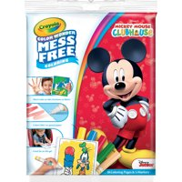 Crayola Color Wonder Mickey Mouse Club House Coloring Pad And Markers, 18 Pages
