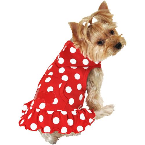 SimplyDog Red Dot Bone Dog Hoodie