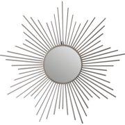 Cheungs Sunburst Silver Metal Accent Wall Mirror