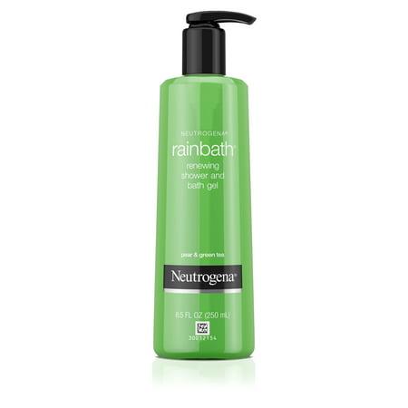 Etro Gel Shower Gel (Neutrogena Rainbath Shower and Bath Gel, Pear and Green Tea, 8.5 fl. oz)
