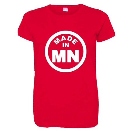 PleaseMeTees™ Womens From Born Made In Minnesota MN Logo Label HQ Tee