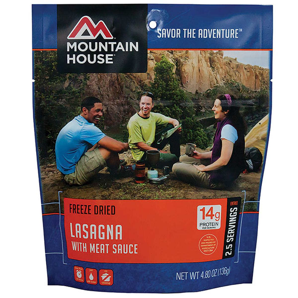 Mountain House Pouch 2-10oz Serv Lasagna, 53127 by Mountain House