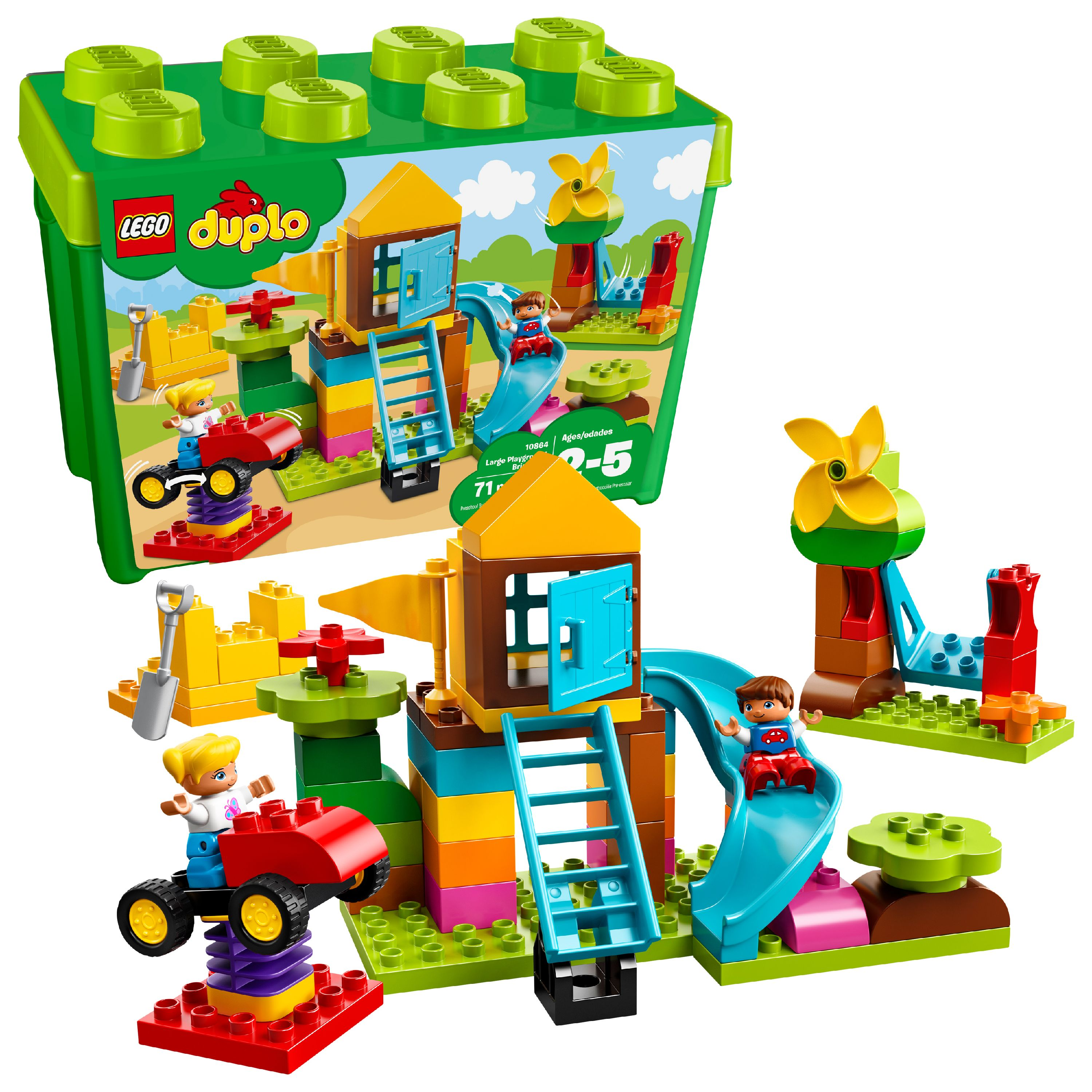 LEGO Duplo Creative Play Large Green Building Plate Kit Kids Play Plastic Toy