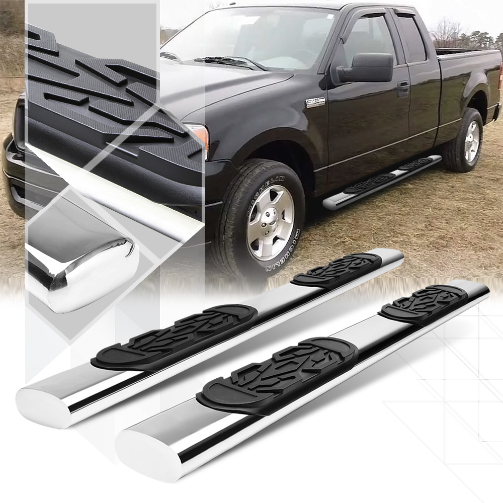 """Chrome 6""""Oval Side Step Nerf Bar Running Board for 04-14 Ford F150 Ext/Super Cab 05 06 07 08 09 10 11 12 13"""