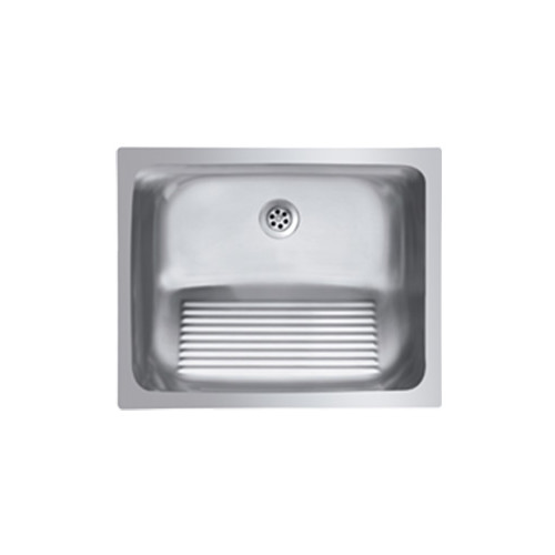 Ukinox Single Basin Stainless Steel Laundry Sink With Washboard