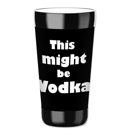 Mugzie 16-Ounce Tumbler Drink Cup with Removable Insulated Wetsuit Cover - Might be Vodka