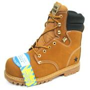 "Men's Steel Toe Work Boots 9"" Waterproof Nubuck Leather Oil Resistant"