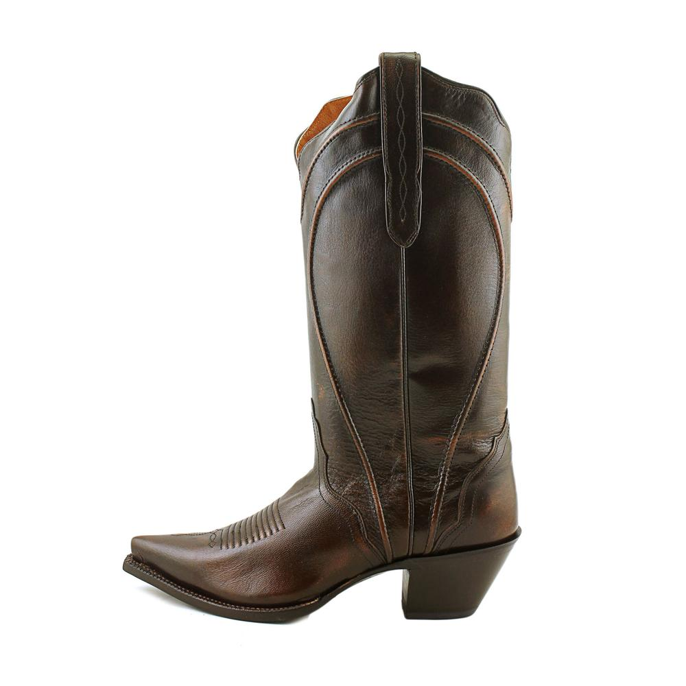 Nocona NL5306 Leather Women  Pointed Toe Leather NL5306 Brown Western Boot 691452