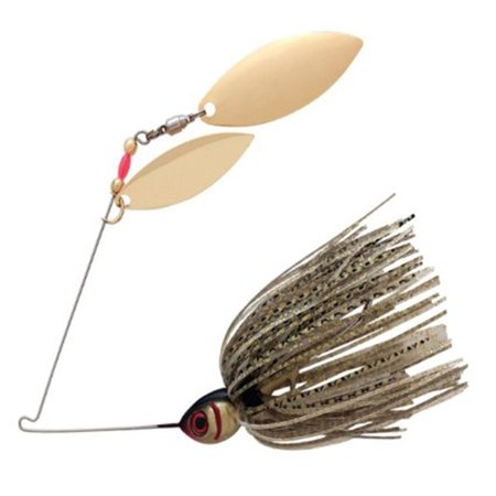 Booyah Tandem Blade Spinner Bait 3/8oz Gold Shiner,