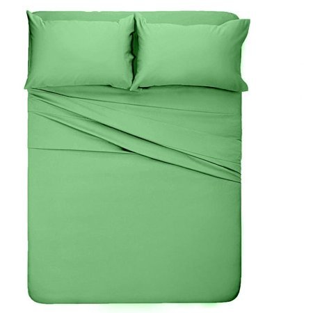 The Great American Store 1800 Series Brushed Microfiber Three Quarter 3/4 Full Bunk Camper Sheet Set Solid Sage