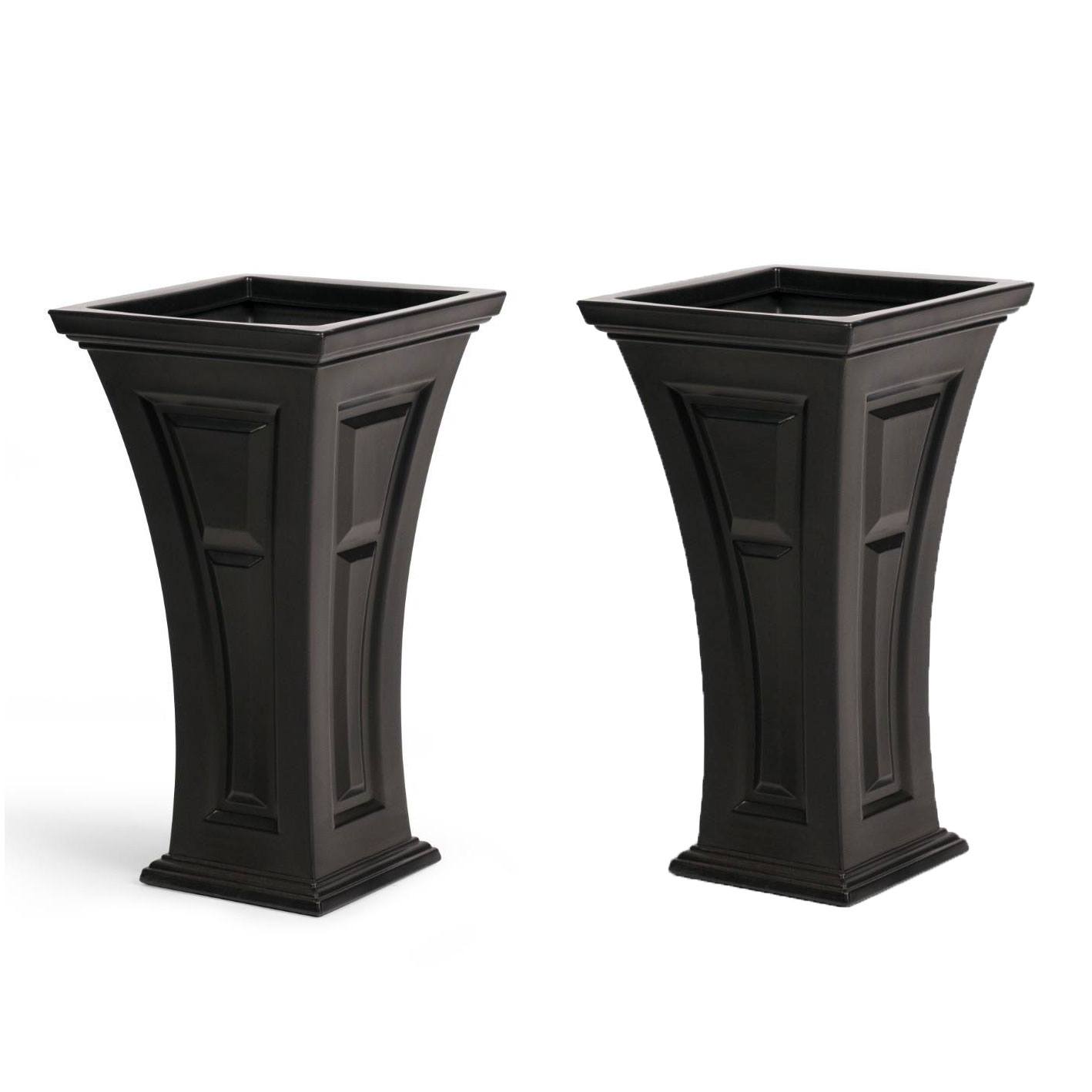 YIMBY Heritage Self Watering Large Tall Outdoor Garden Patio Planter Pot, 2 Pack by YIMBY
