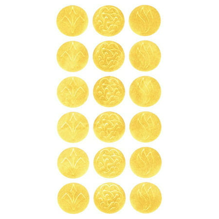 Geographics, GEO45204, Gold Embossed Seals, 54 / Pack, Golden ()