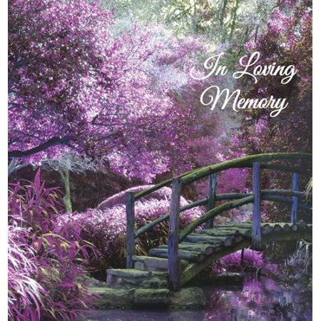 IN LOVING MEMORY FUNERAL GUEST BOOK, -