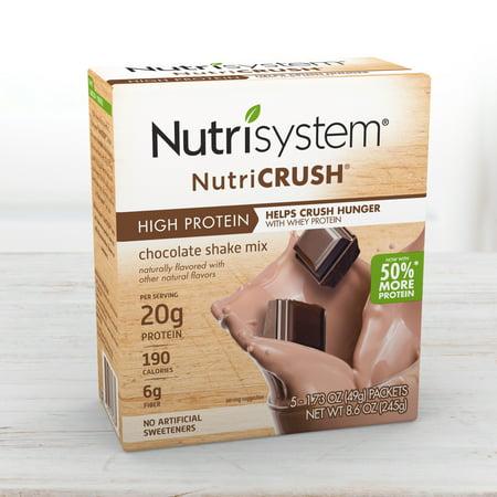 - Nutrisystem NutriCrush Chocolate Shake Powder, 1.73 Oz, 20CT