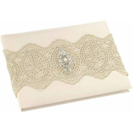 Lillian Rose Gold Lace Guest Book