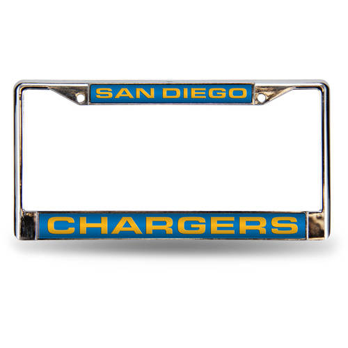 NFL San Diego Chargers Laser Chrome Frame